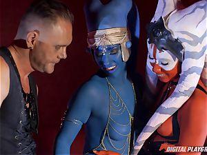 Aliens Eva Lovia and Aria Alexander take on firm shaft
