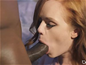 big black cock for wild red-haired Ella Huhges