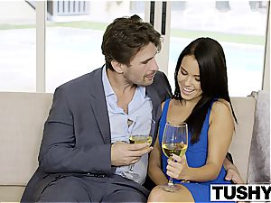 TUSHY My girlfriend Megan Rain Gets porked in the culo by the Neighbor