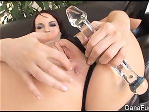 Dana gets her bum jammed with giant dark-hued sausage