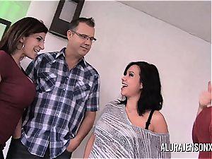 Alura Jenson Sara Jay Kimmy Lee in 4some