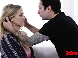 mummy Julia Ann toe throated while dicked in the slit