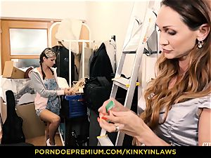kinky INLAWS - Gina Gerson nailed by milf with vibro
